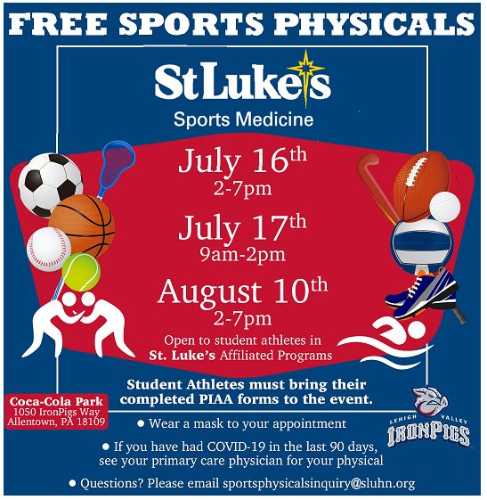 Free Sports Phsycals