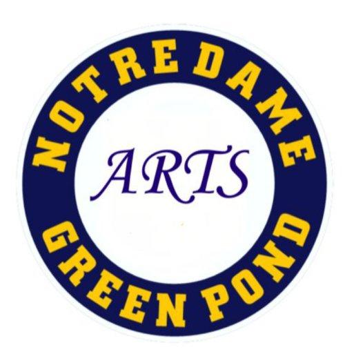 Notre Dame Green Pond Arts Logo